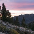 Sunset over Big Cottonwood.- Broads Fork Trail
