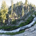 The cascades above the falls.- Kings Creek Falls