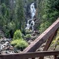 Lower Fish Creek Falls from the bridge.- Upper Fish Creek Falls