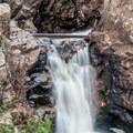 The upper falls is actually several separate falls.- Upper Fish Creek Falls