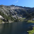 The first view of the lake along the trail.- Alpine Lake