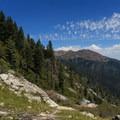 Traveling down the scramble.- Alpine Lake