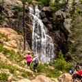 The upper falls is a popular turnaround spot.- Upper Fish Creek Falls
