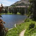 The northwestern corner of Ruth Lake.- Ruth Lake