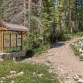 The Ruth Lake Trailhead.- Ruth Lake