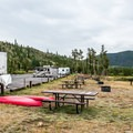 The sites on the lake side of the campground have excellent lake access.- Pine Cove Campground