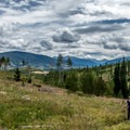 Great views looking back toward Silverthorne.- Lily Pad Lake via Salt Lick Trailhead