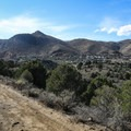A view of Virginia City in the shadow of Mount Davidson, the tallest peak in Storey County.- Comstock Mining Loop