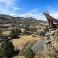 The Combination Mine Shaft, once the second-deepest mine shaft in the world.- Comstock Mining Loop