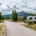 Typical campground loop road.- Heaton Bay Campground