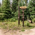Parking for the Boulder Lakes.- Lower Boulder Lake