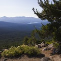 Lake of the Woods from the trail.- Mount McLoughlin
