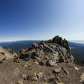 Posing at the false summit.- Mount McLoughlin