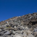 Climbing to the top.- Mount McLoughlin