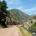 Bikers of all levels use the trail.- Waterton Canyon