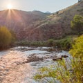 Sunset over the South Platte.- Waterton Canyon