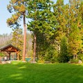 The lawn at the lodge. Photo courtesy of The Lodge at Suttle Lake. - The Suttle Lodge