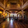 Inside the main lodge.- The Suttle Lodge