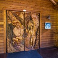Doors to the lodge.- The Suttle Lodge