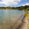 The trail alongside Rainbow Lake.- Rainbow Lake + Madeley Lake Hike