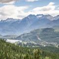 Looking back over Green Lake.- Rainbow Lake + Madeley Lake Hike