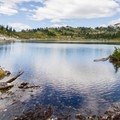 Beautiful Rainbow Lake.- Rainbow Lake + Madeley Lake Hike