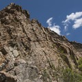So many good routes available for climbers.- Storm Mountain Day Use Area