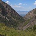 Views toward Salt Lake City.- Storm Mountain Day Use Area