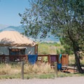 Yurt camping is available at the park.- Mount Carbon Loop