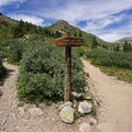 Junction of Linkins Lake Trail and Lost Man Trail.- Linkins Lake Trail