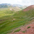 Looking down from Frigid Air Pass.- Four Pass Loop