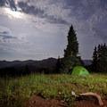Camp near Trail Rider Pass.- Four Pass Loop