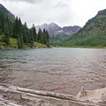 Trailhead at Maroon Lake. - Four Pass Loop