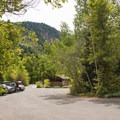 Group site area.- Tanners Flat Campground