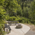Well-maintained sites.- Tanners Flat Campground