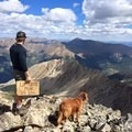 Taking a well deserved breather at the summit of La Plata Peak.- La Plata Peak