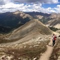 Following the trail along the ridge up to the top. - La Plata Peak