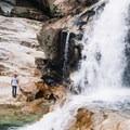 Gold Creek Falls.- Gold Creek Falls, Lower Falls Trail