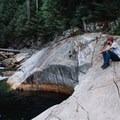 At the top of Gold Creek Falls. - Gold Creek Falls, Lower Falls Trail
