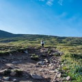 As the trail steepens, it also widens.- Mount Bierstadt, West Slopes Route