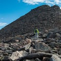 The final summit push over talus.- Mount Bierstadt, West Slopes Route