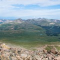 The Northern Front Range seen from Bierstadt's summit.- Mount Bierstadt, West Slopes Route