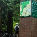 The top of Old Buck is a natural resting point with a trail map.- Mount Seymour Trails: Old Buck + Pangor Loop
