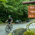 Old Buck Trailhead parking lot.- Mount Seymour Trails: Old Buck + Pangor Loop