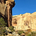 Much of the trail passes through a broad canyon.- Lower Calf Creek Falls