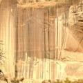 Streaks of desert varnish in the canyon walls.- Lower Calf Creek Falls