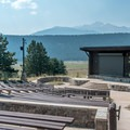 Amphitheater for evening programs.- Moraine Park Campground