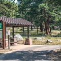The free shuttle stops nearby.- Moraine Park Campground