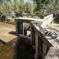 Old irrigation diversion dam along the South Boulder Creek Trail.- South Boulder Creek Trail via Bobolink Trailhead
