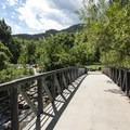 Boulder Creek Path crossing over Boulder Creek at Eben G. Fine Park.- Eben G. Fine Park